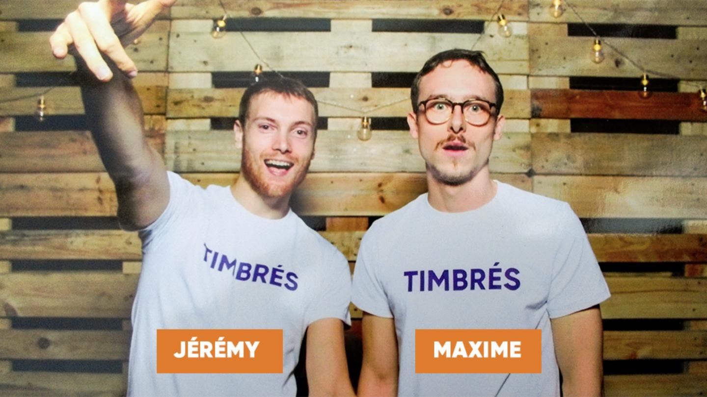 """L'aventure entrepreneuriale """"timbrée"""" de <c>Maxime Boutier et Jérémy Dalzon </c> - EM Strasbourg"""