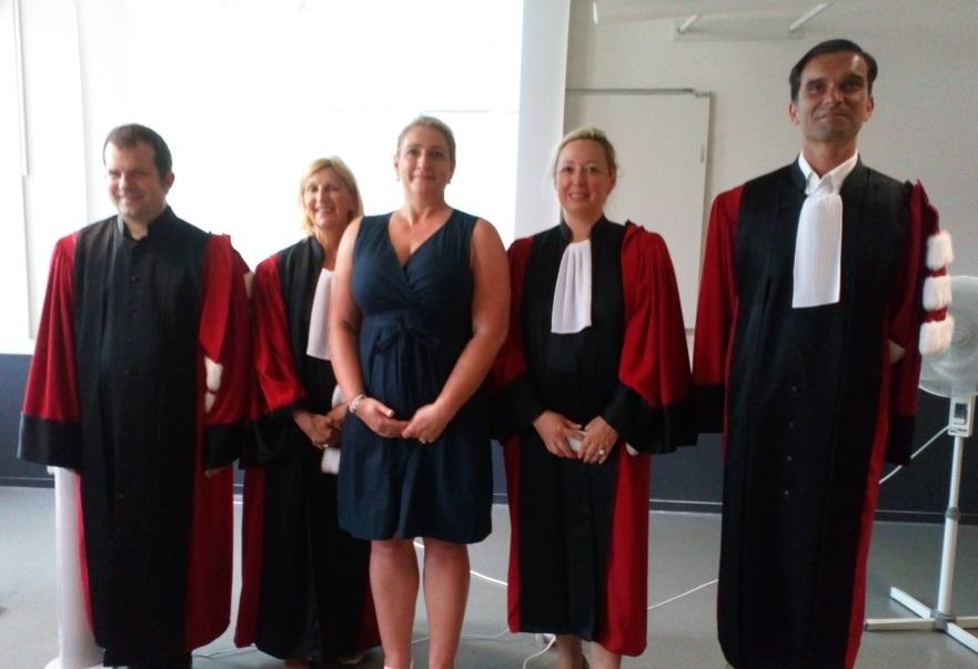 Verteidigung der Dissertation von <c>Delphine Theurelle-Stein</c> - EM Strasbourg