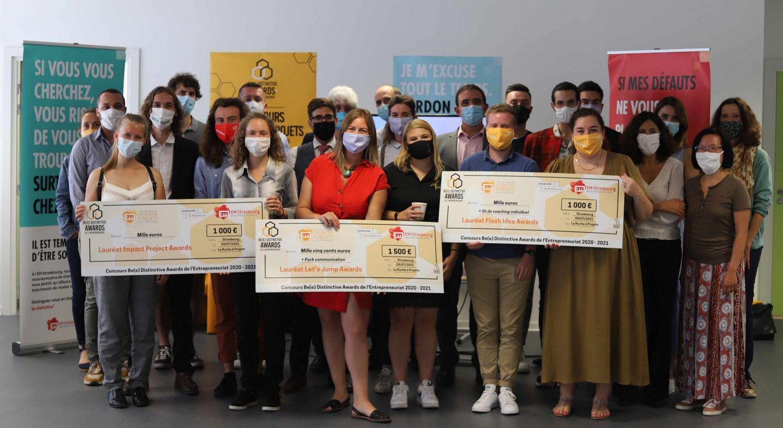 Be(e) Distinctive Awards : les lauréats entrepreneurs de la première édition dévoilés - EM Strasbourg