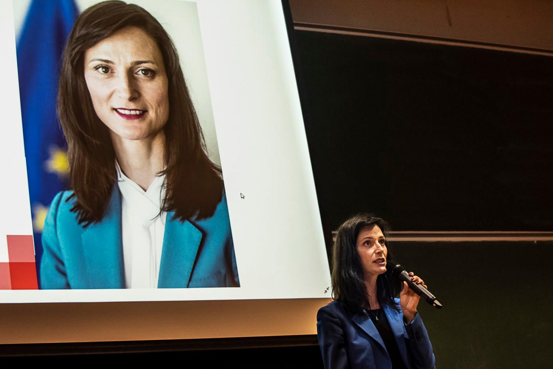European Commissioner Mariya Gabriel, guest of honor of the 96th class of Programme Grande Ecole at EM Strasbourg Business School - EM Strasbourg